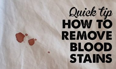 how to remove blood